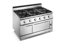 Gas Range 6-burner 304 Grade SS 900 Series With Oven F9012GGR