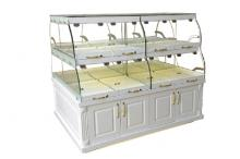 Double Sides 2 Layers Bakery Showcase with Under-cabinet K193